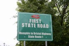 Memphis Bristol autostrady znak obraz stock