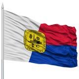 Memphis City Flag sur le mât de drapeau, Etats-Unis Photographie stock libre de droits