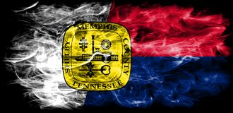 Memphis city smoke flag, Tennessee State, United States Of Ameri. Ca Stock Photos