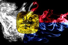 Memphis city smoke flag, Tennessee State, United States Of Ameri. Ca Royalty Free Illustration