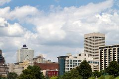 Memphis Cityscape Royalty Free Stock Photo