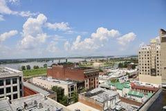 Memphis Clear Blue Skyline du centre photographie stock