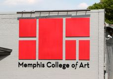 Memphis College de Art Banner Fotos de Stock Royalty Free