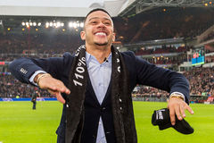 Memphis Depay dice arrivederci ai fan di PSV Immagini Stock Libere da Diritti