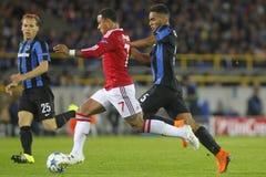 Memphis Depay mistrza liga FC Bruges, Manchester United - Obraz Royalty Free