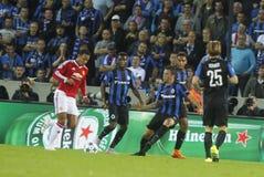 Memphis Depay mistrza liga FC Bruges, Manchester United - Obraz Stock