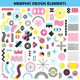 Memphis Design Elements Set illustration de vecteur