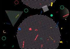 Memphis Design mínimo, diseño inconsútil geométrico de la cubierta del vector Bauhaus plano moderno de la textura futurista fresc imagen de archivo
