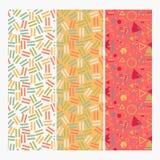 Memphis Design Pattern Set sans couture illustration libre de droits