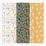 Memphis Design Pattern Set sans couture illustration de vecteur