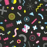 Memphis Design Seamless Pattern Images libres de droits