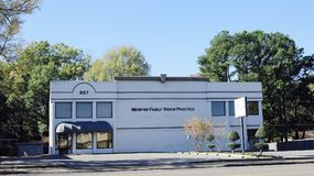 Memphis Family Vision Practice. Our focus at Memphis Family Vision Practice is providing all of our patients quality and affordable eye care with prompt Royalty Free Stock Photo