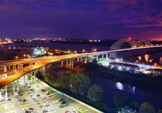 Memphis-Flussbank Lizenzfreies Stockfoto