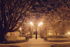 Memphis Foot Bridge Locked Gate Tonal Image Stock Photo