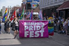 Memphis Gay Pride Parade 2017. Memphis, TN on Beale Street Stock Image