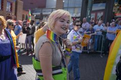 Memphis Gay Pride Parade 2017, Blonde Female Royalty Free Stock Image