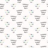 Memphis Geometric Shape Pattern, Naadloze Vectorachtergrond, Hand Getrokken Vinkjes royalty-vrije illustratie