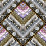 Memphis geometric striped seamless pattern. Vector abstract mode. Rn background wallpaper with 3d textured ornamental stripes, lines, frames, borders, geometric vector illustration