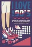 Memphis grępluje retro ilustracje sztandary w 90s stylu grafika obraz stock
