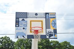 Memphis Grizzlies Community Court, Memphis, Tennessee Immagini Stock