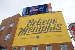 Memphis Grizzlies Playoff Run Sign Stock Photos
