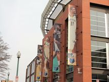 Memphis Grizzlies Starting Line-Up. In larger than life portraits positioned on the side of the FedEx Forum arena Royalty Free Stock Image