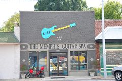 The Memphis Guitar Spa, Memphis, Tennessee Royalty Free Stock Photography