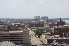Memphis Hazy Skyline do centro imagem de stock