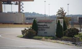 Memphis Intermodal Facility, Memphis, TN royalty-vrije stock foto