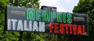 Memphis Italian Festival Sign Royalty Free Stock Photography
