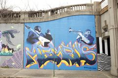 Memphis Jazz Artists Painting Memphis, Tennessee royaltyfria bilder