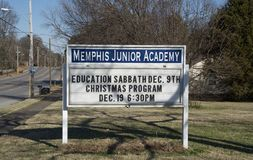 Memphis Junior Academy, Memphis, TN. Our school is part of the world-wide Seventh-day Adventist school network which includes 5,700 elementary and high schools Royalty Free Stock Photography