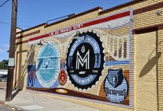 Memphis Made Mural Royalty Free Stock Images