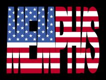 Memphis mit amerikanischer Flagge Stockfotos