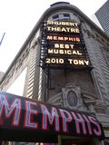 Memphis muzikaal bij Shubert theater, Broadway Stock Foto's