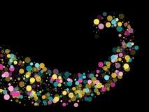 Memphis om confettien feestelijke achtergrond in cyaan blauw, roze en geel Kinderachtige patroonvector vector illustratie