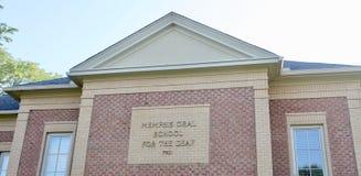 Memphis Oral School para el sordo imagen de archivo libre de regalías