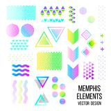 Memphis pattern elements Stock Photo