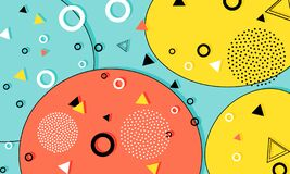 Free Memphis Pattern. Fun Background. Hipster Style 80s-90s. Fun Pattern. Stock Photography - 218346242