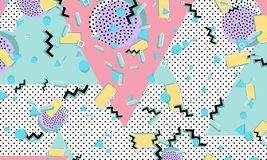 Memphis pattern. Geometric shapes. Hipster style royalty free illustration
