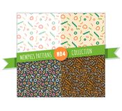 Memphis pattern seamless collection Royalty Free Stock Photos
