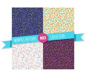 Memphis pattern seamless collection Royalty Free Stock Image
