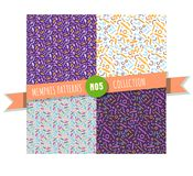 Memphis seamless pattern collection Royalty Free Stock Photography