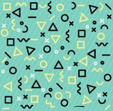 Memphis patterns geometric shapes. Vector illustration, Flat and minimal vector eps file With Copy Space Flat Vector Illustration royalty free illustration