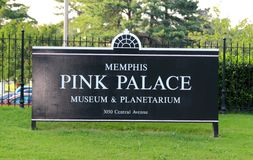 Memphis Pink Palace Museum and Planetarium Sign Royalty Free Stock Image