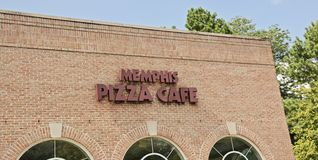 Memphis Pizza Cafe Restaurant Sign Stock Photo