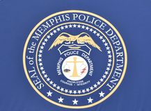 Memphis Police Force Seal. The Memphis Police Department is the law enforcement agency of the City of Memphis, Tennessee. The Memphis Police department motto is royalty free stock photo
