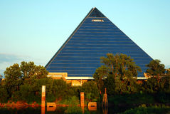 The memphis Pyramid. Was once a sports arena and is now a Bass Pro Shop store stock photos