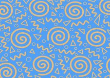 Memphis Seamless Abstract Pattern royalty-vrije illustratie