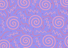 Memphis Seamless Abstract Pattern Foto de archivo